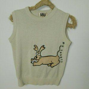 MU Sports Sweater Vest Brown Dog Golf Medium